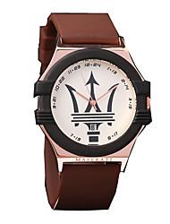 Недорогие -Муж. Часы-браслет Кварцевый Современный Спортивные силиконовый 30 m Творчество Повседневные часы Крупный циферблат Аналоговый На каждый день Мода - Коричневый Красный Синий