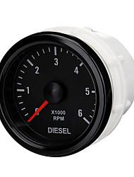 Недорогие -52мм 0-6000 об / мин (на приборной панели) электрический тахометр для дизельного двигателя