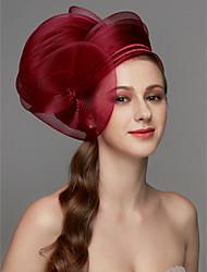 Недорогие -Сеть Fascinators / Аксессуары для волос / Головные уборы с Пух / Цветы / Отделка 1 шт. Свадьба / Особые случаи Заставка