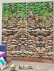Недорогие -европейские простые плотные шторы толстые водонепроницаемые полиэфирные занавески для ванной комнаты легкая установка с кольцами тепло / звукоизоляция для гостиной, гостиной / балкона