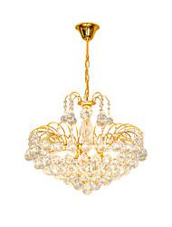 Недорогие -Современная европейская роскошь стиль хрустальная люстра золотой цвет пирамида подвесной светильник романтический французский хрустальная люстра из нержавеющей стали каркас освещения
