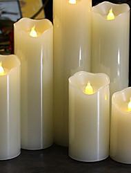 Недорогие -1шт Ночные светильники / Декоративное освещение / Беспламенные свечи Тёплый белый Аккумуляторы AAA Милый / Атмосферная лампа / Романтический подарок <5 V