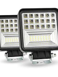 Недорогие -126w 6 рядов 4-дюймовый прожектор светодиодные фары работы от дороги светодиодные фары