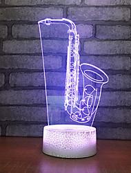 Недорогие -визуальный стерео светодиодный 3d акриловый светильник градиент семь шарик дракона светодиодный ночной свет рождественские подарки украшения для детской комнаты
