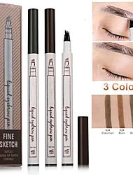 Недорогие -мода тату карандаш для бровей водонепроницаемый и потостойкий три жидкости карандаш для бровей