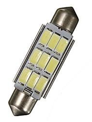 Недорогие -2 x 42мм гирлянда 5630 чип 9-светодиодная smd 6000k карта / купольные светильники