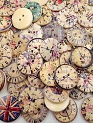 저렴한 -50PCS PF bakelite Buttons Snaps 인쇄 빈티지 / 보편적 빈티지 스타일 / 단추 Clothing Accessories