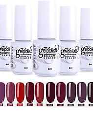 Недорогие -лак для ногтей 12 шт. цвет 97-108 xyp пятнистый выдерживающий / уф-гель лак для ногтей сплошной цвет лак для ногтей наборы