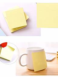 Недорогие -заметки 3x3 самоклеющиеся заметки желтого цвета 1 лист 100 листов / подклад полистирол земля желтый