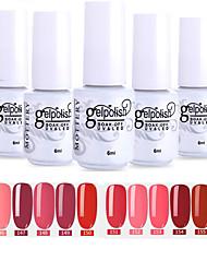 Недорогие -лак для ногтей 12 шт. цвет 145-156 xyp пятнистый отливы уф / светодиодный гель лак для ногтей сплошной цвет лак для ногтей наборы