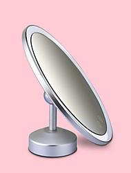 Недорогие -Косметические зеркала Новый дизайн / Светодиодная лампа / Молодежный Составить 1 pcs Сплав Круглая универсальный / Уход за ребенком / Здоровье и Красота Простой / Переносной На каждый день