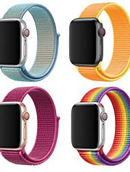 Недорогие -Ремешок для часов для Apple Watch Series 4/3/2/1 Apple Миланский ремешок Нейлон Повязка на запястье