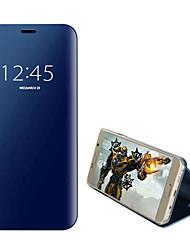 ieftine -Maska Pentru Samsung Galaxy Note 9 / Note 5 Placare / Întoarce / Suspendare / Revenire Automată Carcasă Telefon Mată Greu PC pentru Note 9 / Note 5 / Note 4