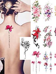 Недорогие -10 pcs Временные татуировки Защита от влаги / Лучшее качество Лицо / плечо / назад Временные тату