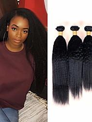 voordelige -6 bundels Braziliaans haar KinkyRecht Mensen Remy Haar Menselijk haar weeft Bundle Hair Een Pack Solution 8-28inch Natuurlijke Kleur Menselijk haar weeft Geurvrij Klassiek Gemakkelijke dressing