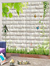 Недорогие -Горячие продажи низкая цена затемнения полиэфирная ткань занавеса водонепроницаемый mouldproof занавески для душа для спальни / гостиной звукоизоляция шторы