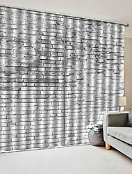 Недорогие -современные простые окна дизайн штор 3d уф-печать 100% полиэстер затемняющие ткани декоративные шторы спальня / гостиная / гостиница