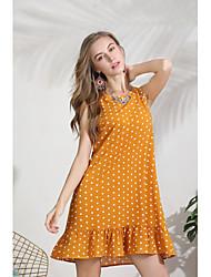 cheap -Women's Sheath Dress - Solid Colored Red Yellow Light Blue L XL XXL