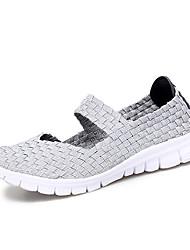 cheap -Women's Flats Flat Heel Round Toe Elastic Fabric Casual Walking Shoes Summer White / Coffee