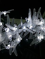 Недорогие -3 м стрекоза гирлянда 20 светодиодов холодный белый / многоцветный фестиваль ну вечеринку дома декоративные солнечной энергии 1 комплект