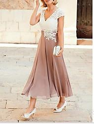 Недорогие -женская миди рубашка свинг платье v шея румянец розовый с м л х
