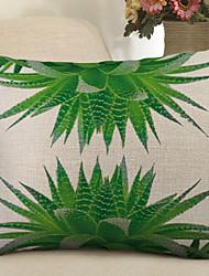 Недорогие -1 штук Лён Наволочка, Продукты питания Цветочный принт На каждый день Пастораль Бросить подушку