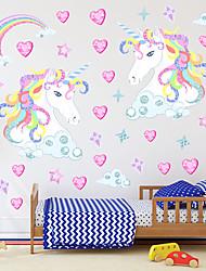 Недорогие -Декоративные наклейки на стены - Простые наклейки / Наклейки для животных 3D / Феи Спальня / Детская
