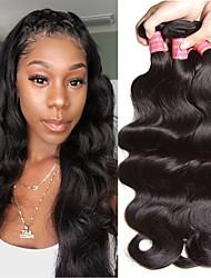 voordelige -6 bundels Braziliaans haar BodyGolf Onbehandeld haar Menselijk haar weeft Bundle Hair Een Pack Solution 8-28inch Natuurlijke Kleur Menselijk haar weeft Geurvrij Cool onverwerkte Extensions van echt
