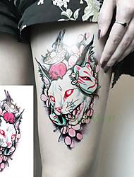 abordables -3 unidades impermeable temporal etiqueta engomada del tatuaje sexy luna sol falso tatuaje tatuajes tatuajes de tatuajes en la cadera pierna cuello para niña mujer