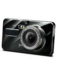 Недорогие -4-дюймовый кулачок с двумя объективами автомобильная камера рекордер 1080p передний задний двойной записи автомобиля заднего хода изображение