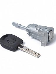 Недорогие -автомобиль левый замок двери цилиндра дверь автомобиля замок безопасности аксессуары 604837167 с ключом для VW Polo 1997-2005