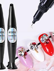Недорогие -10мл клей для ногтей со стразами для украшения стразы сильные клейкие наконечники клей фольга ювелирные изделия не протирать гель верхнее покрытие аксессуары
