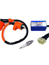 Недорогие -высокопроизводительная гоночная свеча зажигания&усилитель; AC CDI для комплекта gy6 50/125 / 150cc