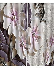 Недорогие -изящные прозрачные шторы с цветочным принтом, легкая установка с кольцами тепло / звукоизоляция для спальни, гостиной / балкона плотные водонепроницаемые шторы для ванной