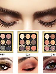 Недорогие -Начинающие 9 цветных теней для век водонепроницаемый длительный перламутровый матовый ню макияж тени для век