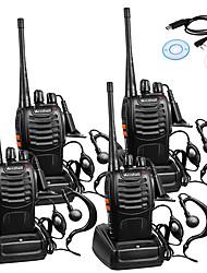 Недорогие -4шт baofeng bf-888s перезаряжаемый дальний 5 Вт 2800 ампер-радиостанций рации 16-канальный портативный радиоприемник встроенный светодиодный фонарик микрофон с наушником (4 шт) 4 пакета 1 кабель USB
