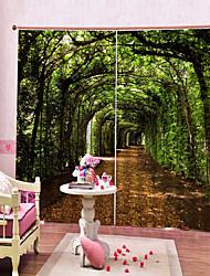 Недорогие -европейские печатные арочные лес многофункциональные шторы спальня и кабинет многофункциональные две панели полиэфирные шторы