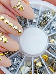 Недорогие -300шт панк заклепки украшения для ногтей наклейки металлические позолоченные шпильки кончики ногтей поделки (цвет многоцветный)