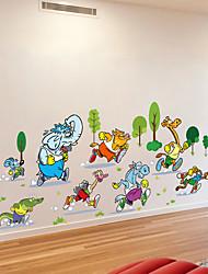 Недорогие -Декоративные наклейки на стены - Простые наклейки Животные / Футбол Спальня / В помещении