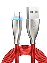 Недорогие -Подсветка Кабель 1.8M (6 футов) Плетение / Высокая скорость / Позолота сплав цинка / Нейлон / люминесцентный Адаптер USB-кабеля Назначение iPad / iPhone