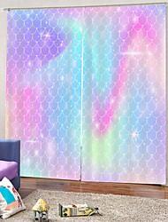 Недорогие -Европейский 3d цифровая печать занавес простой дизайн затемнения 100% полиэстер занавес для спальни гостиной