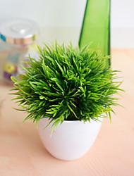 Недорогие -1 шт. 32-глаз феникс бонсай моделирование растение украшение цветок шар трава шар горшечные украшения дома небольшие украшения гостиная столовая украшение моделирование поддельные цветок украшения
