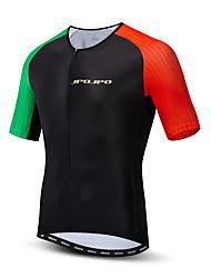 hesapli -JPOJPO Erkek Kısa Kollu Bisiklet Forması Siyah Bisiklet Tracksuit Forma Üstler Nefes Alabilir Spor Dalları Polyester Elastane Terylene Dağ Bisikletçiliği Yol Bisikletçiliği Giyim / Mikro-Esnek