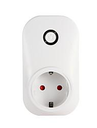 Недорогие -Смарт-розетка Wi-Fi Мобильный телефон переключатель времени Разъем голосового управления Wi-Fi Смарт-штекер с мониторингом энергии ЕС / Великобритании / США