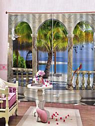 Недорогие -Скандинавский стиль с рисунком летающих птиц за окном Водонепроницаемая светозащитная шторка и шторы от морщин. Спальня и гостиная.