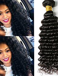 voordelige -6 bundels Braziliaans haar Diepe Golf Onbehandeld haar Menselijk haar weeft Bundle Hair Een Pack Solution 8-28inch Natuurlijke Kleur Menselijk haar weeft Geurvrij Zacht Klassiek Extensions van echt