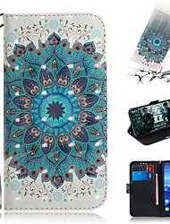 Недорогие -Кейс для Назначение Huawei Huawei Nova 3i / Huawei Nova 4 / Huawei nova 4e Кошелек / Бумажник для карт / со стендом Чехол Цветы Кожа PU