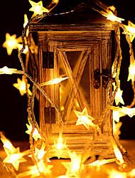 Недорогие -6 м звезда гирлянда 40 светодиодов теплый белый / цвет меняется партия свадебное новогоднее украшение а. А. С питанием от батареи 1 шт.