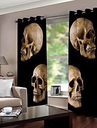 Недорогие -Оптовая hallowmas тема черепа 3d цифровая печать окна занавес роскошные вечеринки шторы спальня гостиная декоративные затемнения 100% полиэстер ткань для штор