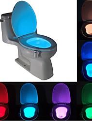 Недорогие -Brelong 1 шт. 8-цветный датчик движения человека пир туалет ночной свет